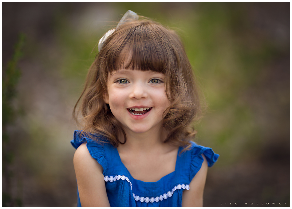 Portrait of a little girl outdoors on mt charleston near las vegas nevada
